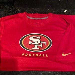 Nike Men's San Francisco 49ers On Field Tshirt